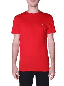 T-shirt lacoste cotone pima ROUGE