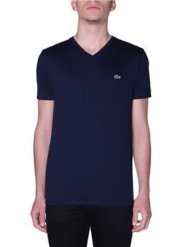 T-shirt lacoste scollo v blanc BLUE MARINE