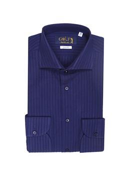 Camicia golf seersucker BLU