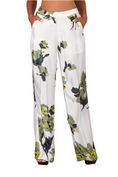 Twin set pantalone floreale BIANCO