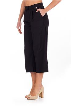 Pantalone twin set largo NERO