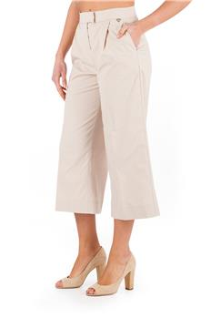 Pantalone twin set largo BEIGE