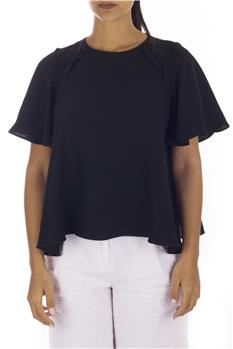 Blusa twin set mezza manica NERO