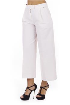 Pantalone twin set rigato ROSA E BIANCA