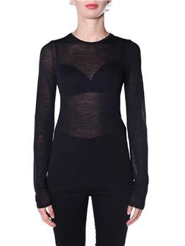 T-shirt semicouture astrelle NERO