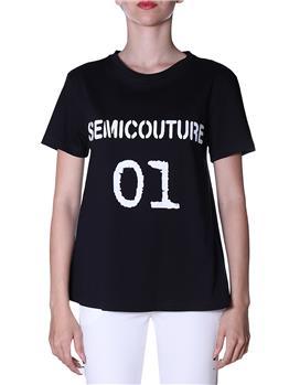 T-shirt semicouture classica NERO