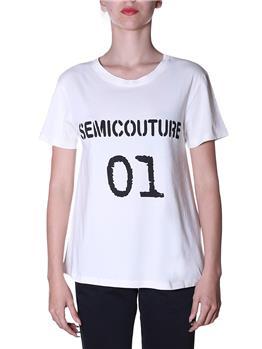 T-shirt semicouture classica BIANCO