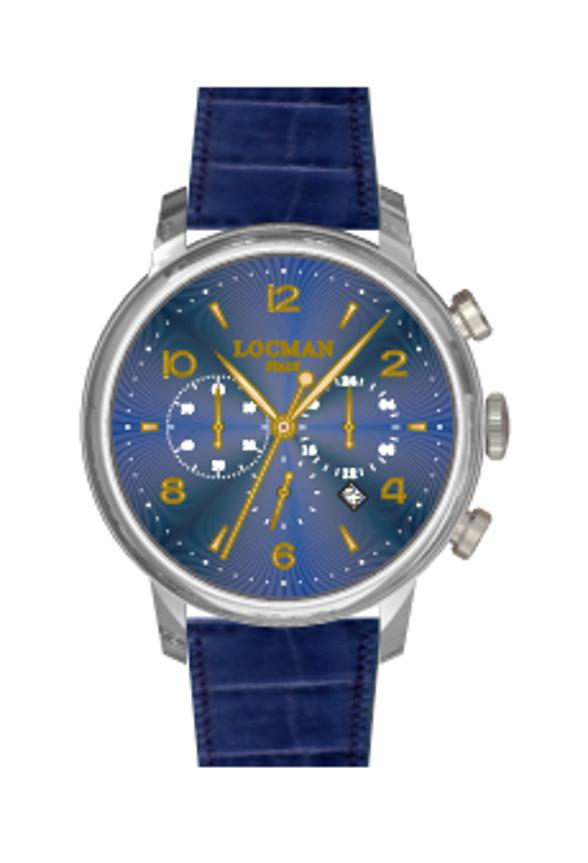 Orologio locman crono 1960 classico blu 0254A02R-00BLRG2PB