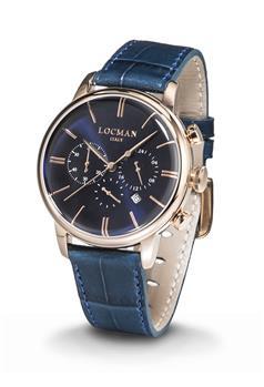 Locman 1960 cronografo uomo QUADRANTE BLU ROSE GOLD