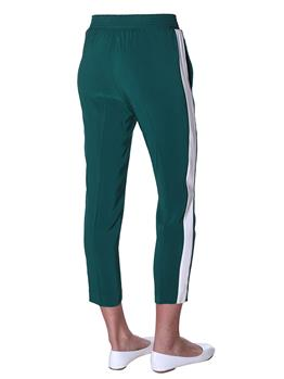 Pantalone twin set rigato EVERGREEN BIANCO