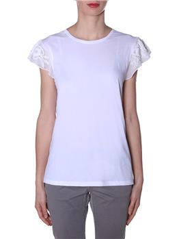Tnin set t-shirt mezza manica BIANCO