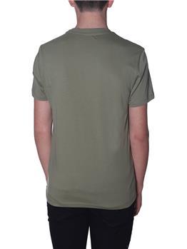 T-shirt blauer uomo logo VERDE MILITARE