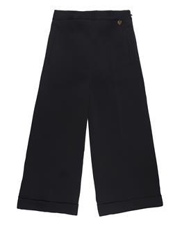 Pantalone twin set fondo largo NERO