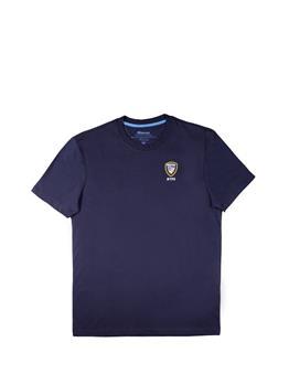 T-shirt blauer uomo giro collo BLU
