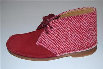 Clarks desert boot tweed ROSSO