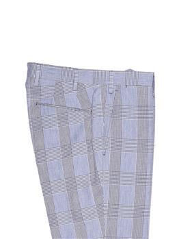 Pantalone golf fantasia BIANCO E BLU - gallery 5