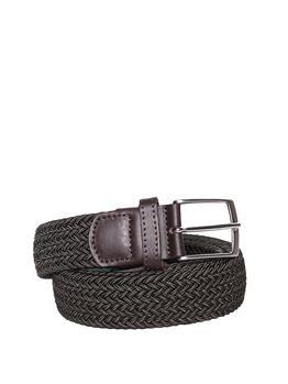 Cintura intrecciata elastica MARRONE