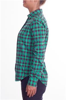 Camicia aspesi donna quadri VERDE Q3
