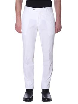 Pantalone golf seersucker BIANCO