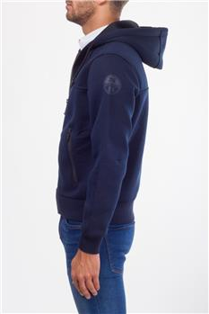 North sails felpa cappuccio BLU Y5