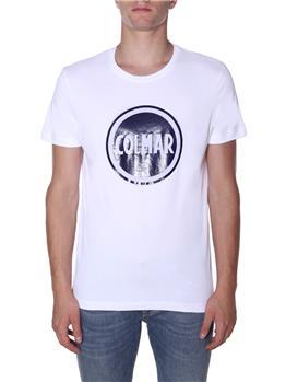 Colmar t-shirt logo giro collo BIANCO