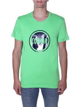Colmar t-shirt logo giro collo VERDE
