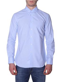 Camicia golf by montanelli QUADRETTO BIANCO E CELESTE Y9