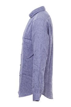 Camicia lacoste lino melange GRIGIO MELANGE
