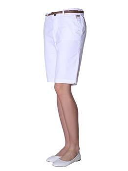 Bermuda chino superdry donna WHITE