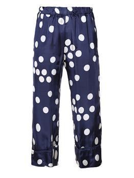 Pantalone liviana conti pois BIANCO E BLU