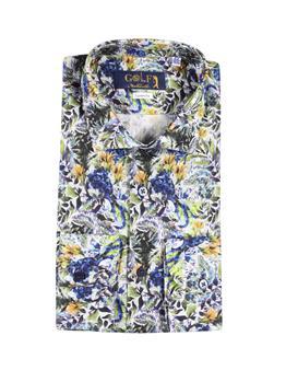 Camicia golf by montanelli BLU E GIALLO
