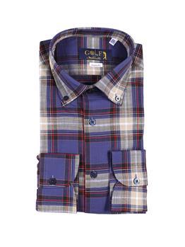 Camicia golf by montanelli ROSSO E BLU