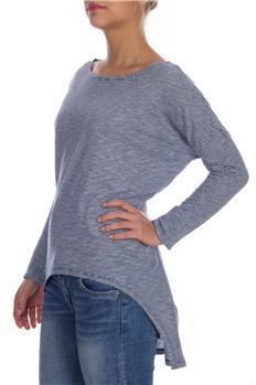 T-shirt manila grace rigata BIANCO E BLU
