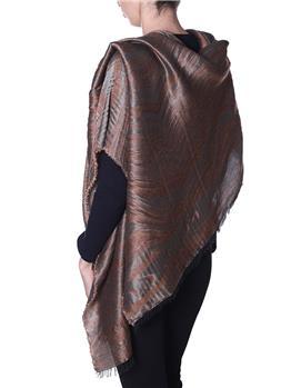 Manila grace sciarpa scritta MARRONE CHIARO