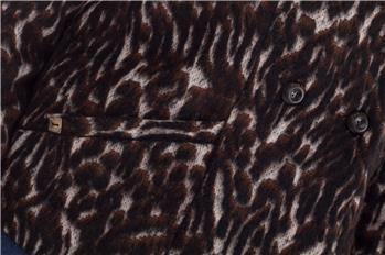 Manila grace cappotto maculato MARRONE - gallery 7
