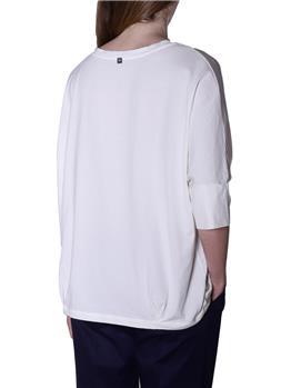 T-shirt manila grace scollo v BIANCO PANNA