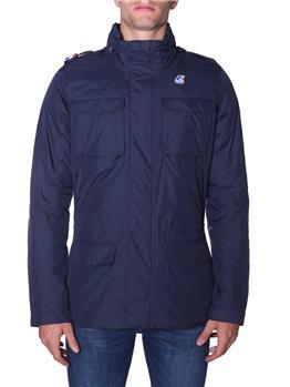 Field jacket k-way uomo BLUE D-BROWN O