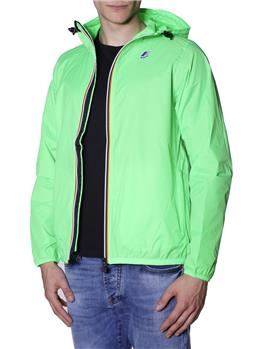 K-way-le vrai 3.0 uomo GREEN FLUO