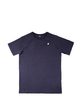 T-shirt k-way classica uomo BLUE DEPHT