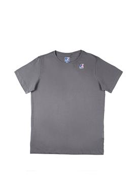 T-shirt k-way uomo classica GREY SMOKE