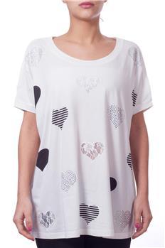 Twin set t-shirt brillantini BIANCO P6