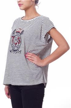 Twin set t-shirt righe BLU P6