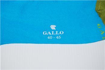 Calza gallo tallone bicolore TURCHESE