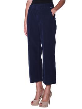 Pantalone roy rogers velluto BLU
