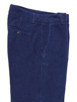 Pantalone roy rogers velluto BLU - gallery 5