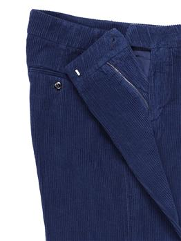Pantalone roy rogers velluto BLU - gallery 6