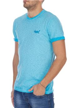 Superdry t-shirt low roller TURCHESE