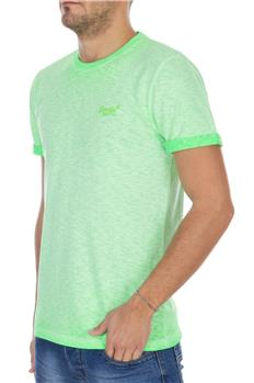 Superdry t-shirt low roller VERDE FLUO