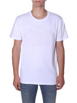 Superdry t-shirt scritta BIANCO