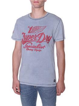 T-shirt superdry scritte GRIGIO
